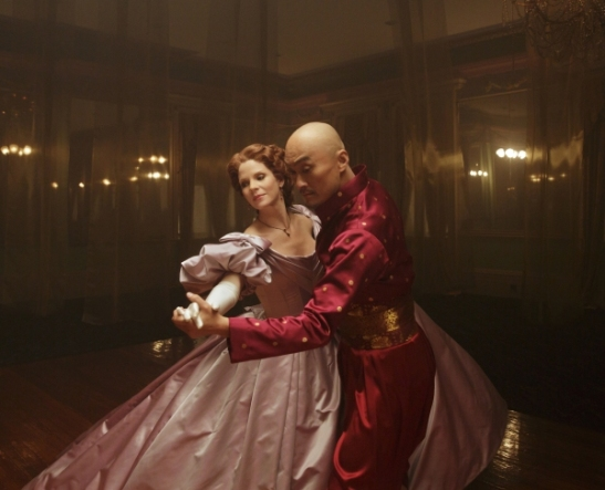 Kelli O'Hara & Ken Watanabe in THE KING AND I Broadway Revival. Photo by Paul Kolnik