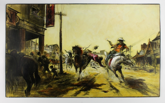 """One of the conceptual drawings from """"The Wild Bunch."""" Image courtesy of the Walt Disney Family Museum and Tyrus Wong"""