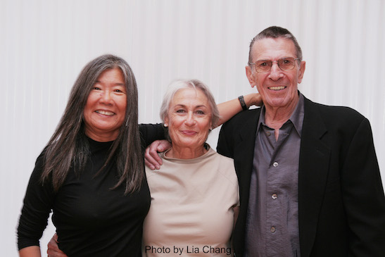 Fashion Designer Yeohlee, Susan Bay Nimoy and her husband Leonard Nimoy at Yeohlee Spring 2009 fashion show in New York on September 9, 2008. Photo by Lia Chang