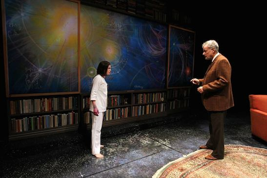 Emily James and John de Lancie in Mr. Wolf by Rajiv Joseph. Photo by Debora Robinson/SCR.