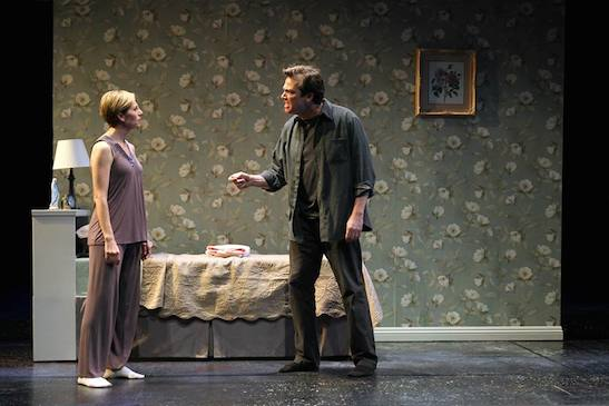 Tessa Auberjonois and Jon Tenney in Mr. Wolf by Rajiv Joseph. Photo by Debora Robinson/SCR.