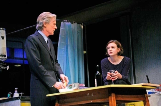 Bill Nighy as Tom and Carey Mulligan as Kyra in Stephen Daldry's production of David Hare's Skylight.  (© John Haynes)