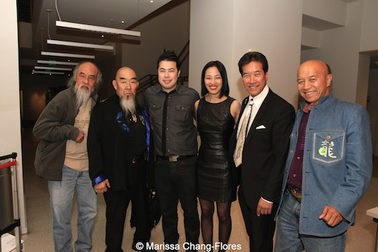 Al Leong, Gerald Okamura, Sonny Tien Nguyen, Lia Chang, Peter Kwong and Eric Lee at JANM's Tateuchi Democracy Forum in LA on April 8, 2015. Photo by Marissa Chang-Flores