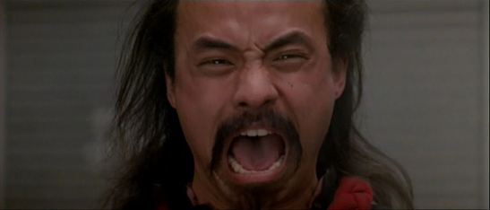 Al Leong as a Wing Kong Hatchet Man in BIG TROUBLE IN LITLE CHINA