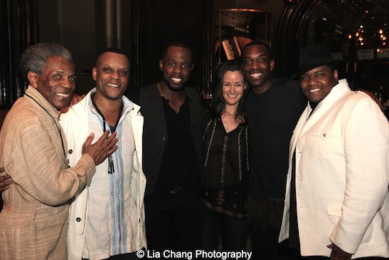 André De Shields, Kevin Mambo, Akron Watson, Kimberly Grigsby, Britton Smith, Juson Williams. Photo by Lia Chang
