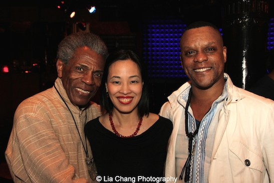 André De Shields, Lia Chang and Kevin Mambo. Photo by Jack Bashkow