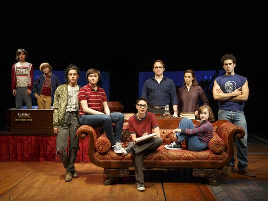 The cast of Fun Home. Photo: Joan Marcus