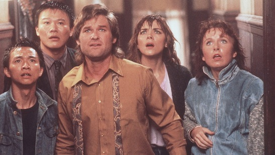 From L to R: Dennis Dun, Donald Li, Kurt Russell, Kim Cattrall & Kate Burton in Big Trouble in Little China. (1986) © Twentieth Century Fox