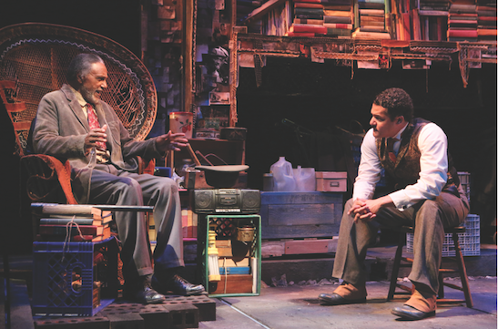 Charles Weldon (Zebedee) and Brandon J. Dirden (Zeke) in the world premiere of Your Blues Ain't Sweet Like Mine at Two River Theater. Photo by Michal Daniel