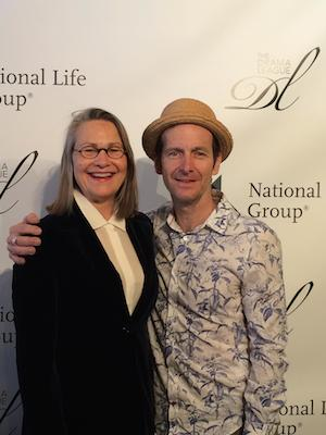 Cherry Jones and Denis O'Hare announced the Drama League Awards nominees at Sardi's on April 21, 2015. Photo courtesy of the Drama League