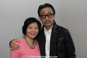 Elizabeth Sung and George Cheung at JANM's Tateuchi Democracy Forum in LA on April 8, 2015. They play husband and wife in ANITA HO. Photo by Lia Chang