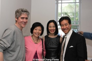 Peter Tulipan and Elizabeth Sung with Big Trouble in Little China cast members Peter Kwong and Lia Chang at JANM's Tateuchi Democracy Forum in LA on April 8, 2015. Photo by Marissa Chang-Flores