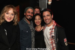 Erin Davie, Nehal Joshi, Lia Chang, Chris Gattelli. Photo by GK
