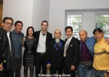 George Cheung, Milton Liu, Lia Chang, Oliver Ike, Gerald Okamura, Peter Kwong, Eric Lee and Ewart Chin at JANM's Tateuchi Democracy Forum in LA on April 8, 2015. Photo by Marissa Chang-Flores