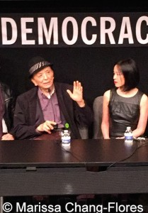 Big Trouble in Little China cast members James Hong and Lia Chang at JANM's Tateuchi Democracy Forum in LA on April 8, 2015. Photo by Marissa Chang-Flores