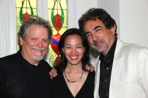 Keith Szarabajka, Lia Chang and Joe Mantegna