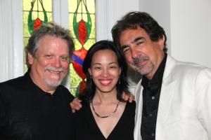 Keith Szarabajka, Lia Chang and Joe Mantegna