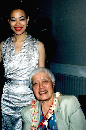 Lia Chang and Grace Lee Boggs at the OCA Convention in Atlanta in 2000.