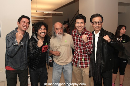 Awesome Asian Bad Guys Milton Liu, Patrick Epino, Al Leong, Stephen Dypiangco, George Cheung at JANM's Tateuchi Democracy Forum in LA on April 8, 2015. Photo by Lia Chang