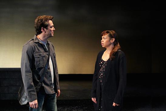Jon Tenney and Kwana Martinez in Mr. Wolf by Rajiv Joseph. Photo by Debora Robinson/SCR.