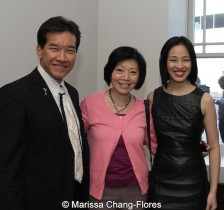 Peter Kwong, Elizabeth Sung and Lia Chang at JANM's Tateuchi Democracy Forum in LA on April 8, 2015. Photo by Marissa Chang-Flores