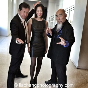 Big Trouble in Little China cast members Peter Kwong, Lia Chang and Gerald Okamura at JANM's Tateuchi Democracy Forum in LA on April 8, 2015. Photo by Ed Miyashiro