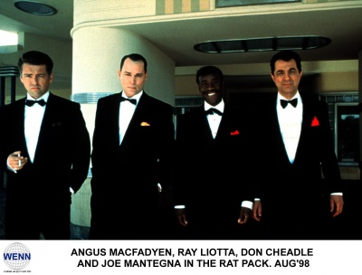 Angus Macfadyen, Ray Liotta, Don Cheadle and Joe Mantegna in the 1998 TV movie 'The Rat Pack.' Image supplied by WENN.