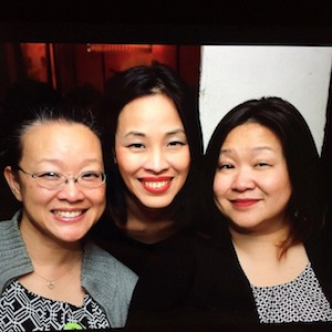 Tami Chang, Lia Chang and Marissa Chang Flores after the JANM screening of Big Trouble in Little China at Far Bar in LA on April 8, 2015. Photo by Jeanne Sakata
