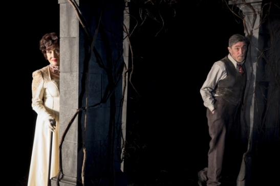 Chita Rivera and Roger Rees in the Broadway production of The Visit at The Lyceum. Photo by Thom Kaine