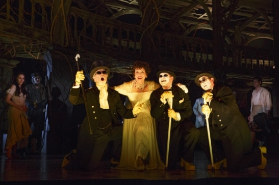 Tom Nelis, Chita Rivera, Chris Newcomer and Matthew Deming. Photo by Joan Marcus