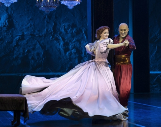 Kelli O'Hara and Ken Watanabe. Photo by Paul Kolnik