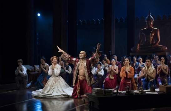Kelli O'Hara, Ken Watanabe and company. Photo by Paul Kolnik