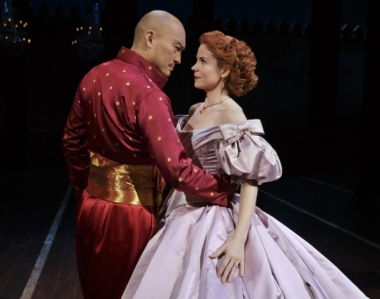 Ken Watanabe and Kelli O'Hara. Photo by Paul Kolnik