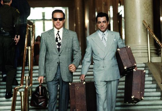 BUGSY, Warren Beatty, Joe Mantegna, 1991, (c) TriStar