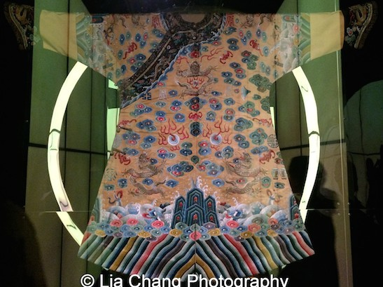 Semi-formal Robe for the Xuantong Emperor, 1909-1911 Yellow silk satin embroidered with polychrome silk and metallic thread Courtesy of The Palace Museum, Beijing. Photo by Lia Chang