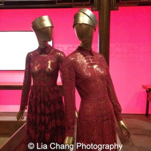 "Ming Furniture Room Gallery View-Evening dresses, Valentino SpA (Italian, founded 1959), ""Shanghai"" collection 2013; Courtesy of Valentino SpA. Photo by Lia Chang"