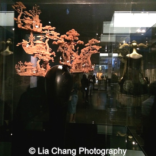 """Philip Treacy """"Chinese Garden"""" headdress of carved cork for Alexander McQueen from 2005."""