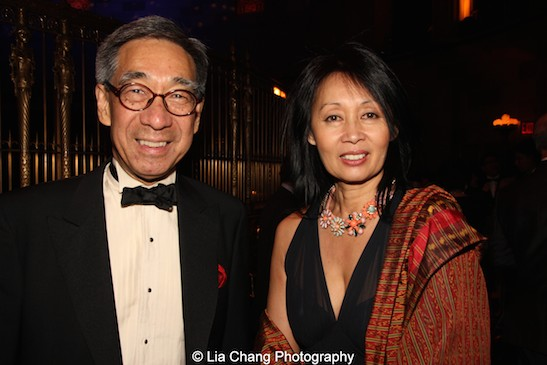 Chien Chung (Didi) Pei and Beatrice Pei attend the China Institute's Blue Cloud Gala at Gotham Hall in New York on May 29, 2015. Photo by Lia Chang