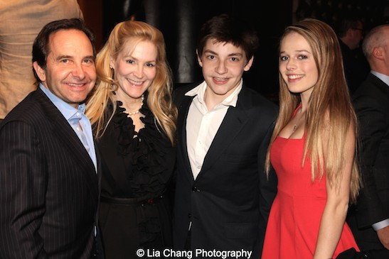 Louis, Patrice and Teddy Friedman with Claire Jasper at The 52nd Street Project's Fancy That Benefit at The Edison Ballroom in New York on May 4, 2015. Photo by Lia Chang