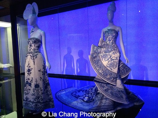 Evening gowns by Chanel (1984) and Guo Pei (2010).
