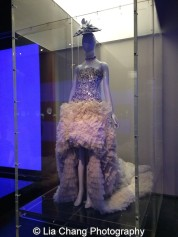 Gallery view, Chinese Galleries, Frances Young Tang Gallery, Blue and White Porcelain. Alexander McQueen (British, founded 1992) Sarah Burton (British, born 1974) Evening dress, autumn/winter 2011–12 Cream silk satin embroidered with shards of blue and white porcelain; white silk organza Courtesy of Alexander McQueen Photo by Lia Chang