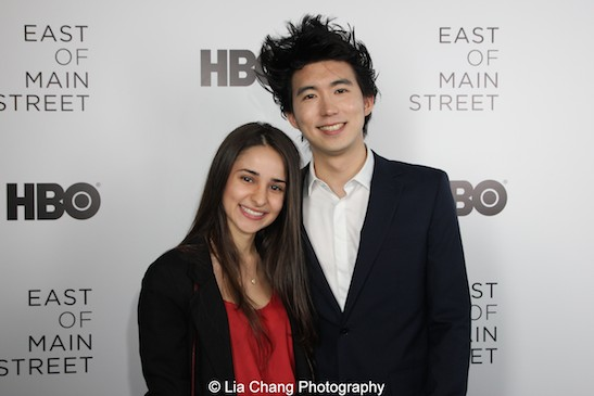 Amanda Proença and director Jonathan Yi attend HBO's screening of East of Main Street: Taking the Lead at Root (Drive-In) Studio in New York on May 6, 2015. Photo by Lia Chang