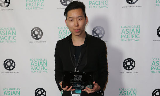 TIMOTHY YEUNG, DIRECTOR OF SHORT FILM 90 DAYS, WINNER OF THE FESTIVAL GOLDEN REEL AWARD FOR BEST SHORT FILM. (PHOTO: STEVEN LAM)