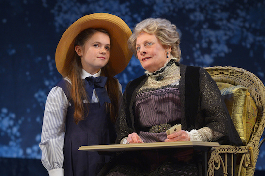 Madame Armfeldt (Tony Award nominee Dana Ivey) (right) speaks with her granddaughter, Fredrika Armfeldt (Brigid O'Brien) in Stephen Sondheim and Hugh Wheeler's A Little Night Music performing at A.C.T.'s Geary Theater May 20–June 14. Photo by Kevin Berne.