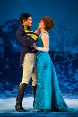 Count Carl-Magnus Malcolm (Paolo Montalban) caresses Desiree Armfeldt (Tony Award winner Karen Ziemba) in Stephen Sondheim and Hugh Wheeler's A Little Night Music performing at A.C.T.'s Geary Theater May 20–June 14. Photo by Kevin Berne.