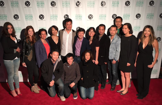 The cast and creative team of Jennifer Phang's ADVANTAGEOUS at the Los Angeles premiere at the Aratani Theatre on August 24, 2015. Photo courtesy of Ed Moy/Facebook