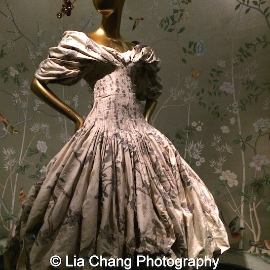 Alexander McQueen Dress from 2006–7 of Cream and polychrome silk brocade.