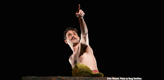 Arian Moayed in Atlantic Theater Company's world premiere of Rajiv Joseph's Guards at the Taj. Photo by Doug Hamilton