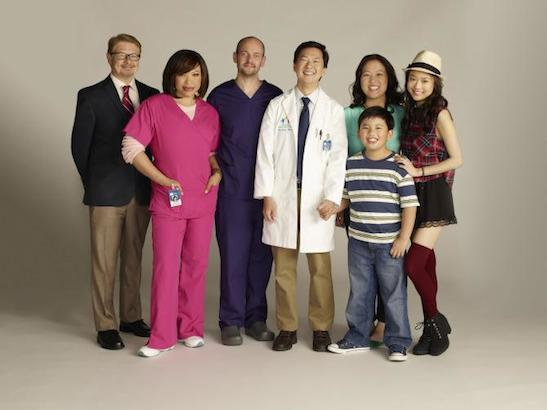 "The cast Ken Jeong's ""Dr Ken"". Photo courtesy of ABC."
