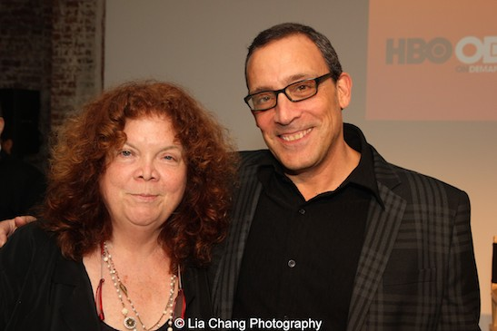 Executive producers Chrissie Hines and Louis Tancredi attend HBO's screening of East of Main Street: Taking the Lead at Root (Drive-In) in New York on May 6, 2015. Photo by Lia Chang